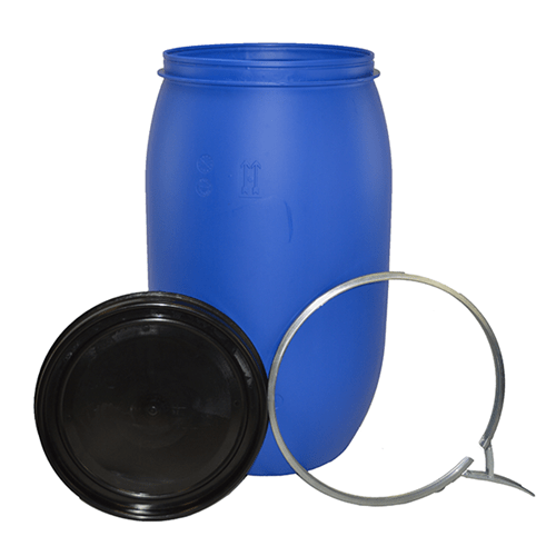 200 litre open top steel drum