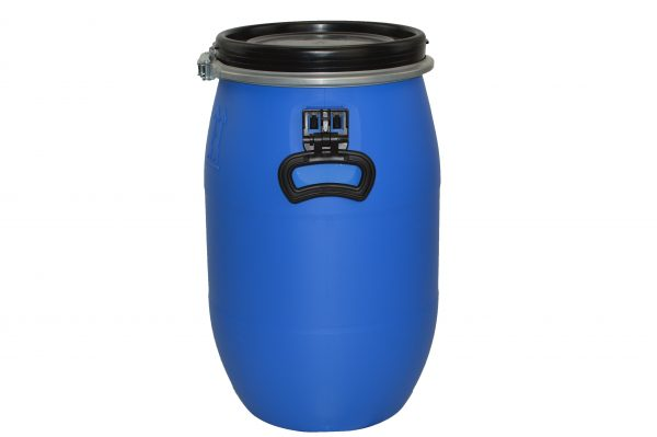 60 litre open top plastic drum