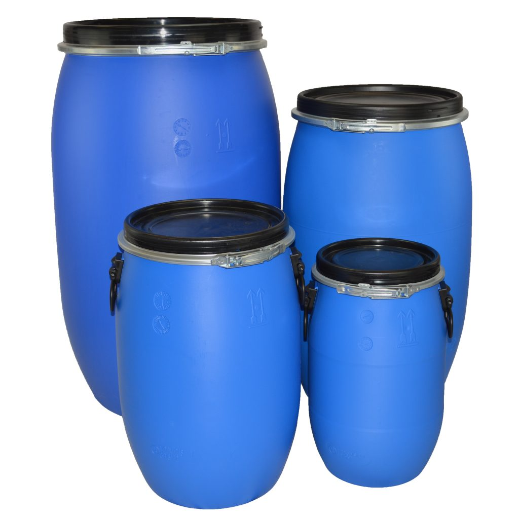 Plastic Drums available from 30 ltr to 220 ltr. Open Top & Tight Head Plastic Drums. Suitable for storing & transporting a range of different goods. Order today