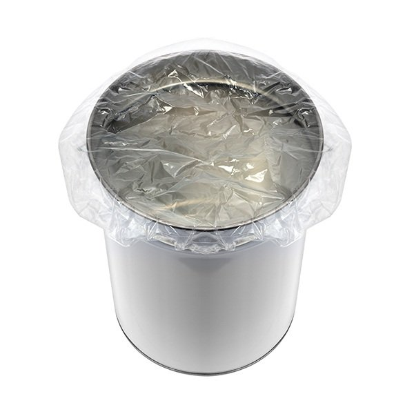Elasticated polythene Drum covers clear anti static
