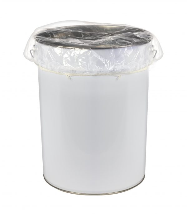 Elasticated polythene pail covers clear anti static