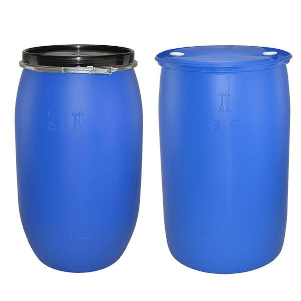 220-litre-open-top-blue-plastic-drum-and-220-litre-tight-head-plastic-drum-front