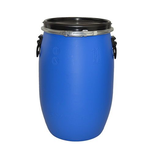 60 litre blue plastic drum
